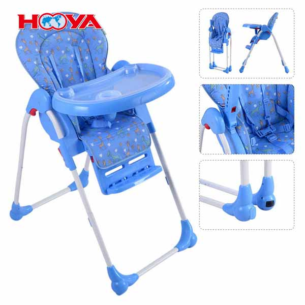Ajustable Infant Toddler alimentación asiento silla plegable de alta