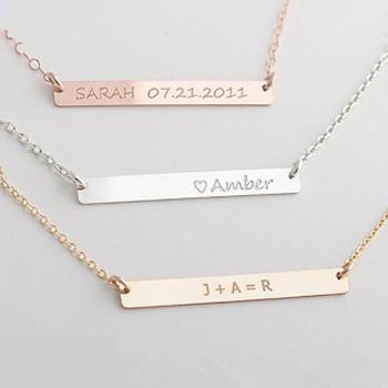 Billige Oem Namen Design Bar Halskette Benutzerdefinierte ...