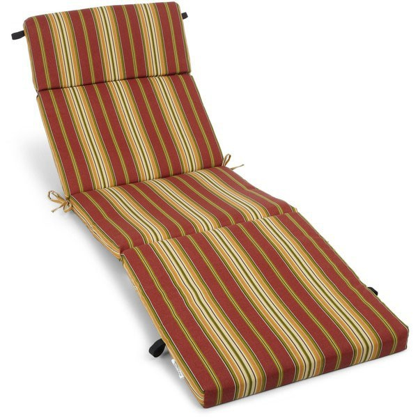 Folding chaise lounge cushion outdoor bench cushion pad