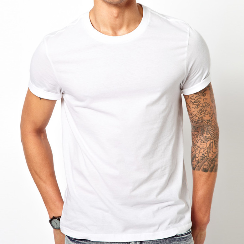 Men 100% Plain White Organic Cotton T-shirt - Buy 100% Plain White ...
