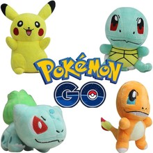 2016 high quality pokemon go soft toys colorful wholesale pokemon plush toys for kids