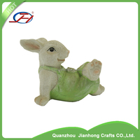 garden statues decoration items miniature resin rabbit crafts