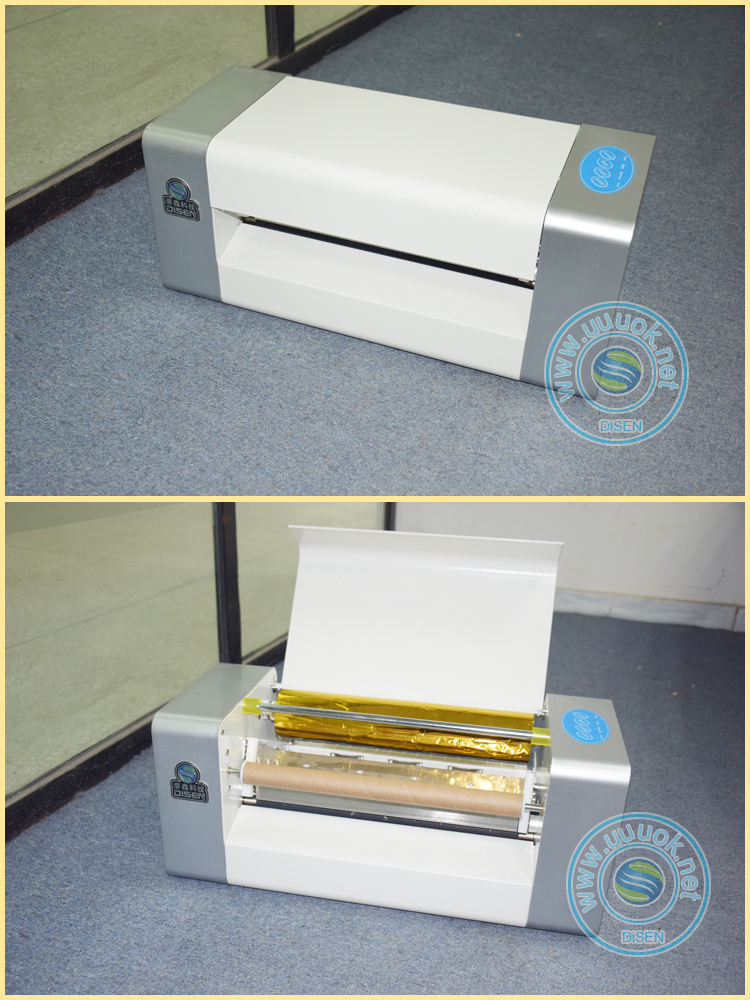 Roll to roll ribbon paper cheap small plateless automatic digital hot foil stamping machine for sale