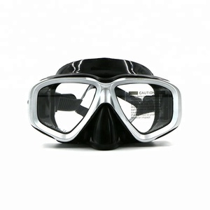 Aloma Low MOQ Anti-leak Black Silicone Snorkeling Mask Diving Equipment