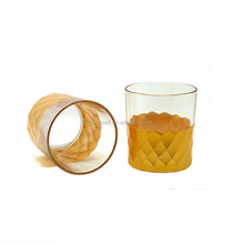 Gold glass candle container wholesale