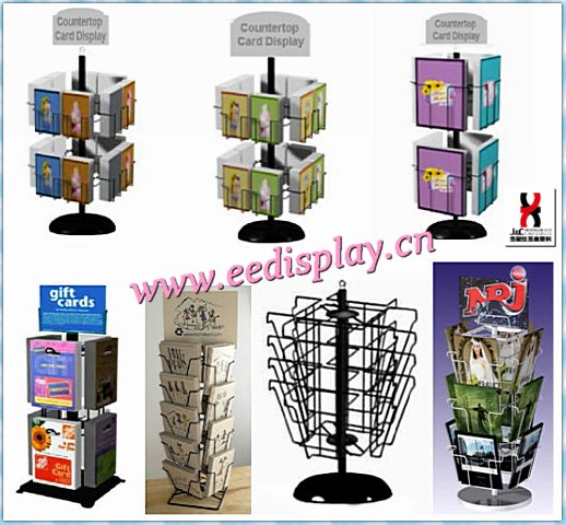Durable mental card&magazine display rack/ 4 x 9 Countertop Brochure/Map Display for sale/promotion/bookstore