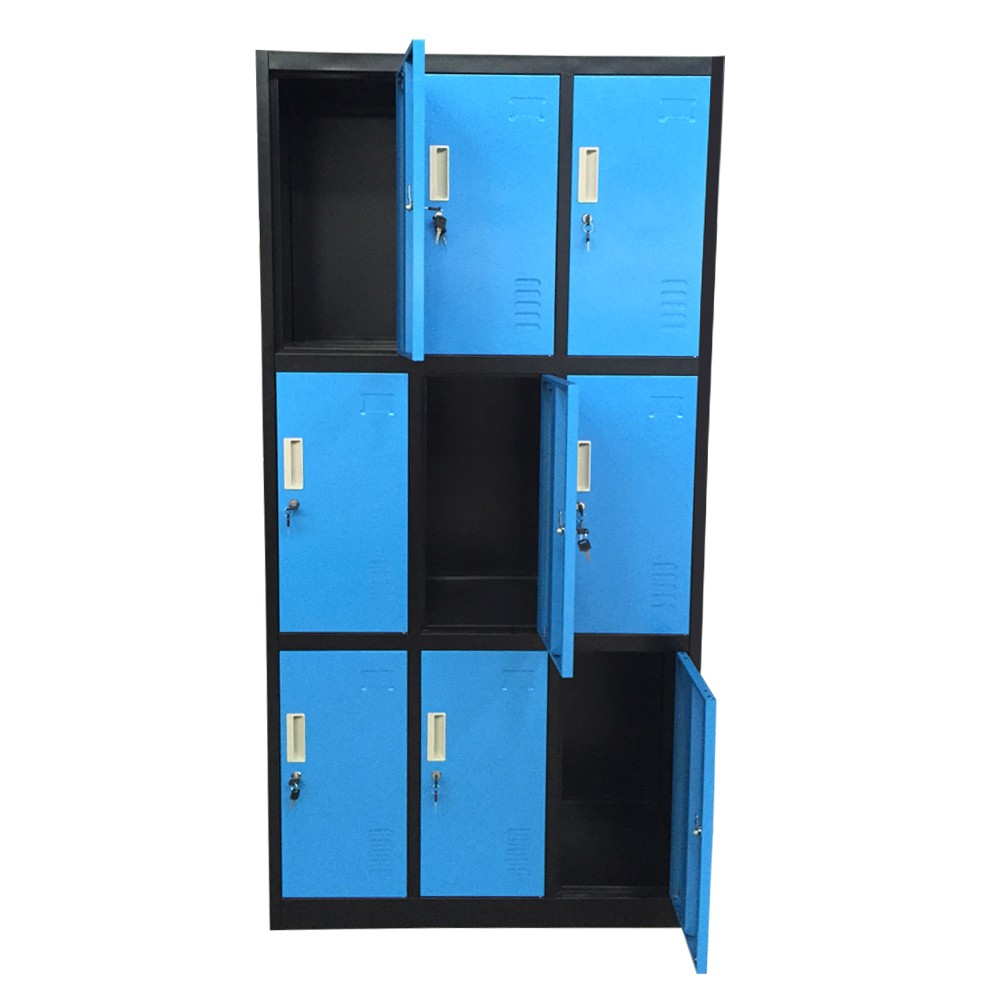 Professional luoyang steel furniture locker 9 door airing for Y h furniture trading