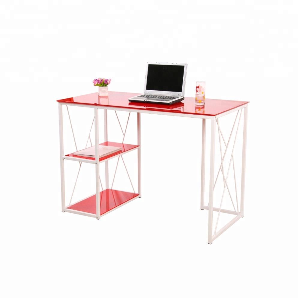 Modern Glass Top Office Table Design Steel Computer Desk   Buy Computer  Desk,Steel Computer Desk,Modern Glass Top Office Table Design Steel  Computer ...