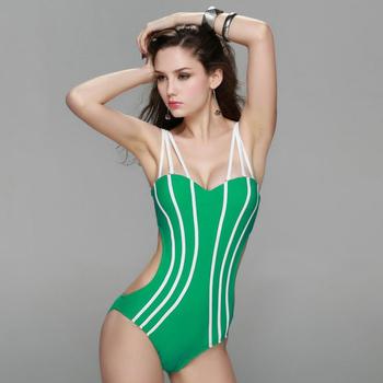 ef0257d1b82bb Sexy One Piece Swimsuit Strip Backless Women Monokini - Buy ...