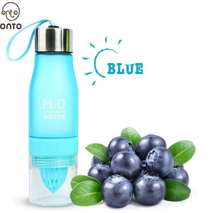 H2O Drink 650ML More Plastic Fruit Infuser Water Bottle,Water Bottle with Fruit Infuser