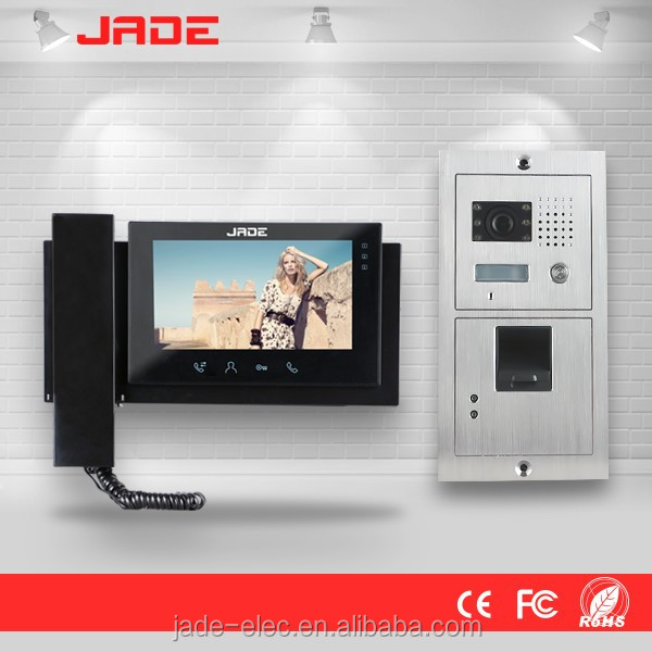 2 wires system video door phone fingerprint video outdoor intercom