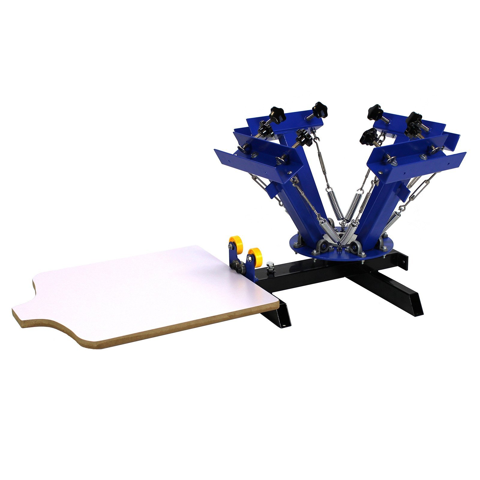 Commercial Bargains NS401 4 Color 1 Station Silk Screen Commercial Printing Press Machine, Blue