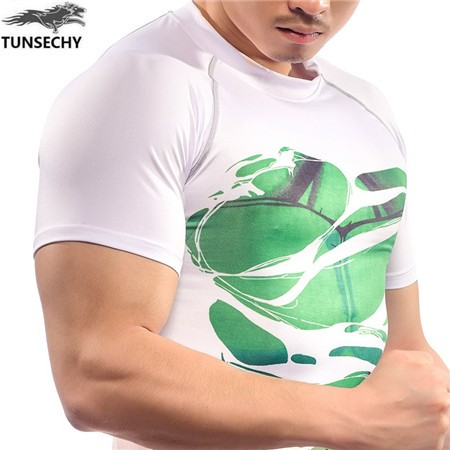Performance T-Shirt, Four Needles Six Lines compression Quick Dry Seamless Short Sleeve Men t shirt