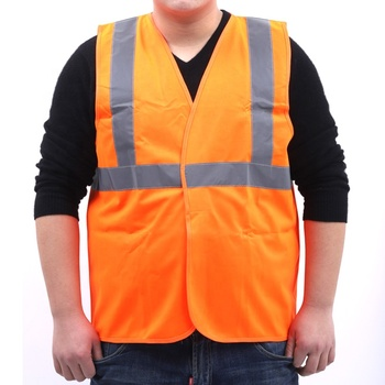 Polyester Orange Yellow Safety Reflective Vest