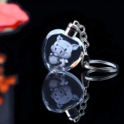 China factory directly custom animal 3d crystal photo led keychain