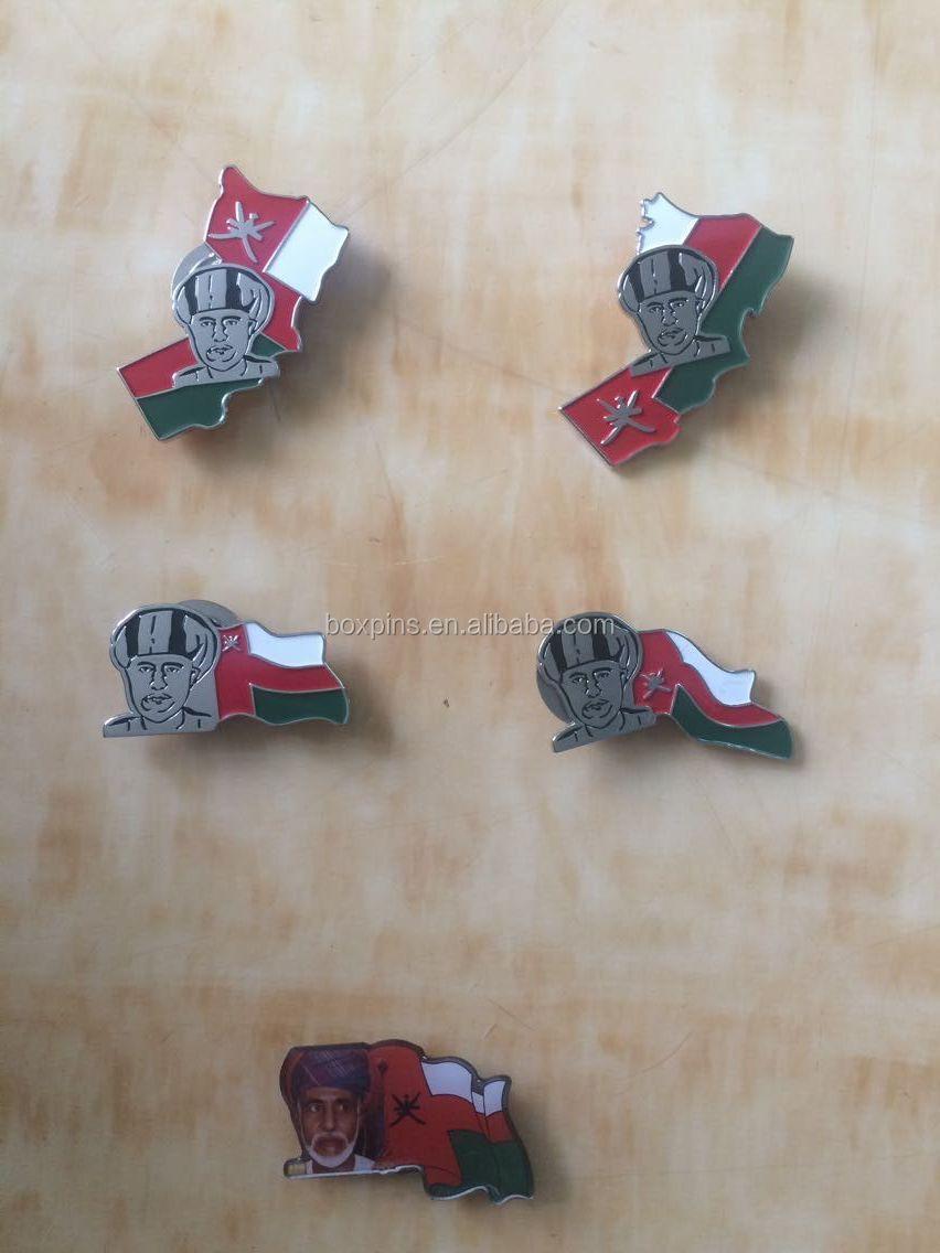 Uae And Oman Promotional Badges,Die Casting Oman Symbol Badge ...
