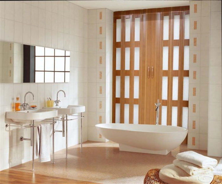 Accordion Bathroom Doors china factory making pvc panel pvc sliding door/folding door