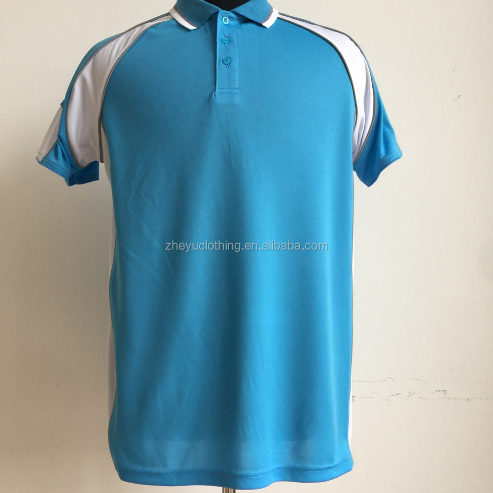 Yarn dyed polo shirt splicing polyester polo shirts light running polo