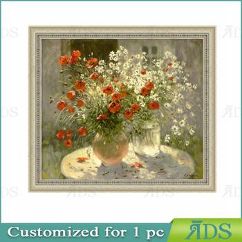 Designs Simple Flower Pot Canvas Vase Painting