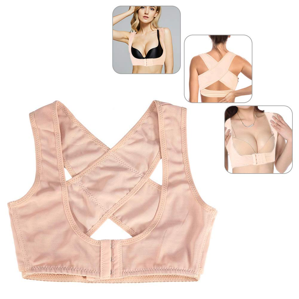 Posture Correct Belt, Ladies Adjustable Push Up Support Straight Holder for Humpback, Correction Posture, Breast Lifting and Breast Support(XL-Flesh)