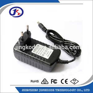 Euro plug switching 16V 2A AC DC power adapter 5.5*2.5mm barrel
