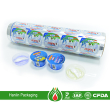 food packaging plastic roll film laminating yogurt lid material