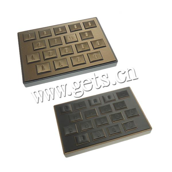Wood Rectangle Pendant Men Leather 654869