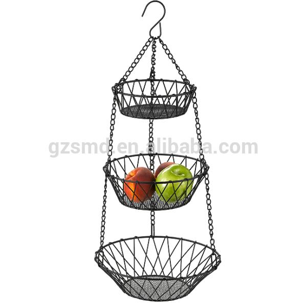 3 Tiers Metal Hanging Fruit Basket Ikea Png