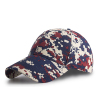 Wholesale high quality red digital camouflage cap blank urban camo baseball hats