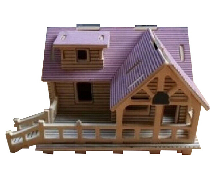 Get Quotations Free Shipping 3d Puzzle Villa I Wooden House Woodcraft Construction Kit Wood Model Wooden Toys
