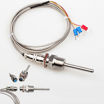 Factory price temperature instruments sensors food probe 1300c 1200c k type thermocouple with connector