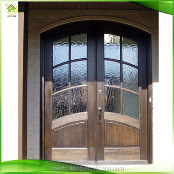 Double Entry Solid Wood Wrought Iron Insulated Entry Doors Buy