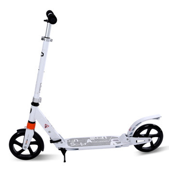 Pro kick adult scooter,big PU wheel outdoor city adult scooter with double suspension