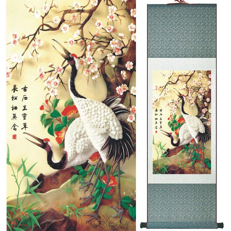Chinesa pintura de rolagem pintura pássaros pássaros