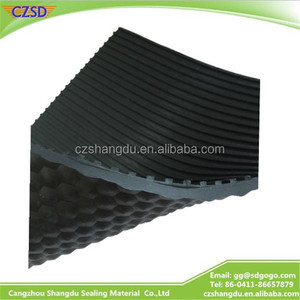 SD Perforated rubber Breathable Neoprene embossed pattern sponge synthetic rubber Gel skidproof fabric sheet