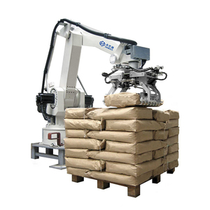 High efficiency automatic robot arm for cement bag stacking