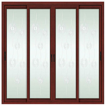Commercial Glass Entry Exterior Sliding Doors For Sale With Frosted