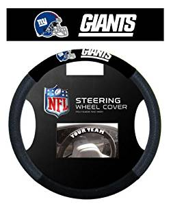 New York Giants NFL Team Logo Car Truck SUV Poly-Suede Mesh Steering Wheel Cover