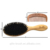 2019 Hot Selling high quality oval wooden bamboo brush set bristles brush boar bristle hair brush with wood comb set wholesale