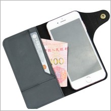 Universal smart phone wallet style leather case for iPhone 7plus