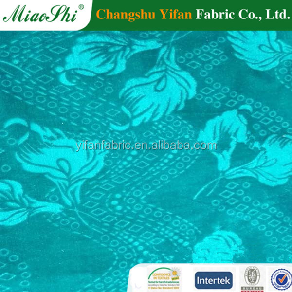 96% polyester 4% spandex yarns knitting korea velvet stretched fabric by changshu