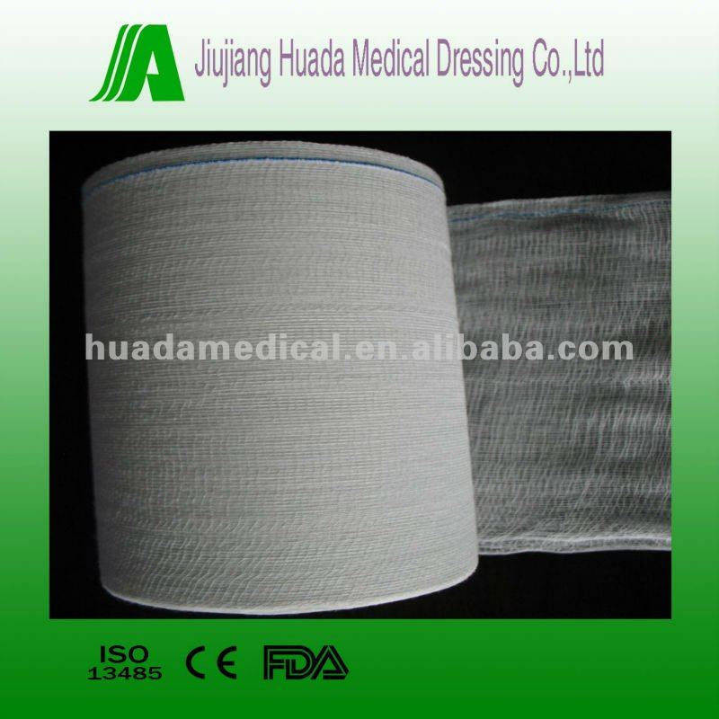 100% cotton medical supply 4-ply absorbent surgical bleached bandage gauze roll