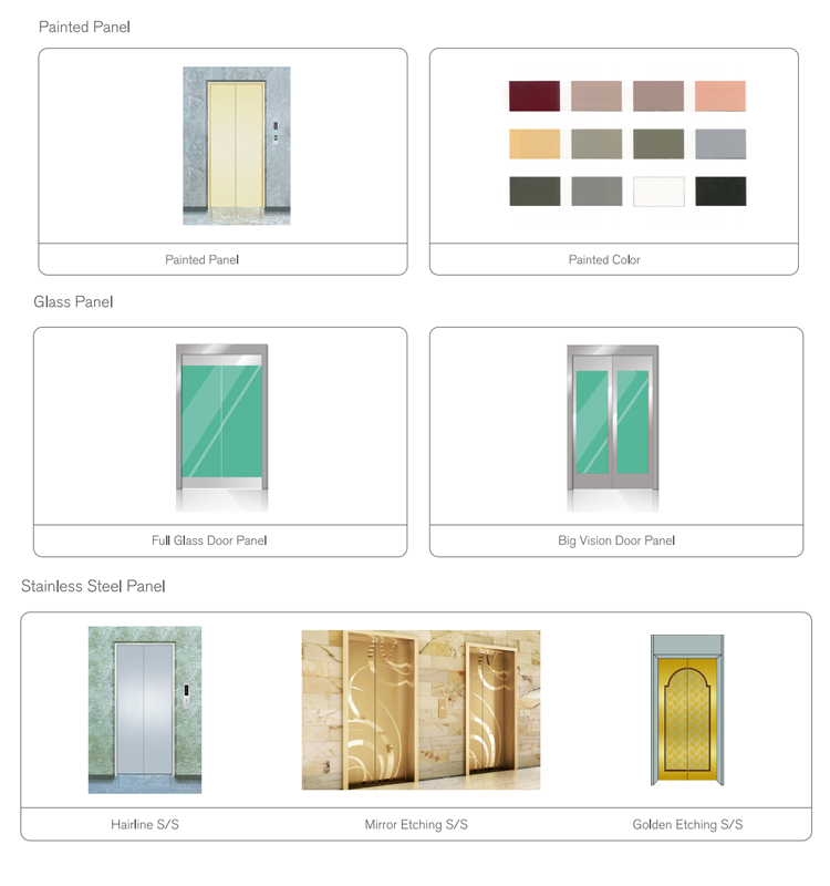 Factory hot sale elevator door panel accessories