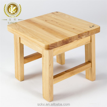 chinese made small handmade wooden foot stool for kids authentic cedar wood