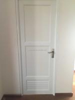 UPVC full panel door ,no glass with door lock and key