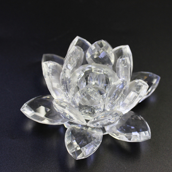 Wholesale Charms Crystal Lotus Flower Candle Holders Buy Crystal
