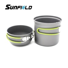 Outdoor Picnic Hiking Portable Aluminium Alloy Pot Bowl Camping Cookware Set