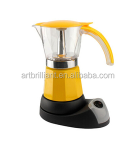 Aluminum cordless electric espresso coffee maker