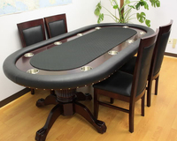 84 Inch Luxury Deluxe Poker Table for 10 players