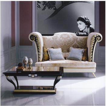 Italy Designer Design Secrect High Back Sofa Elegant Gold Leaf Wood Carved Sectional Sofa Buy Italy Designer Design Sofa Secrect High Back Sofa Gold